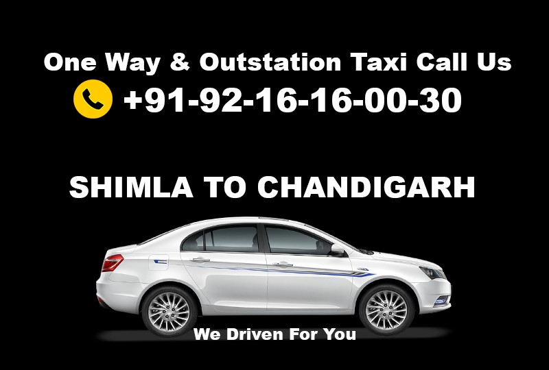 Book Shimla To Chandigarh Taxi Service One Way Round Trip At Best