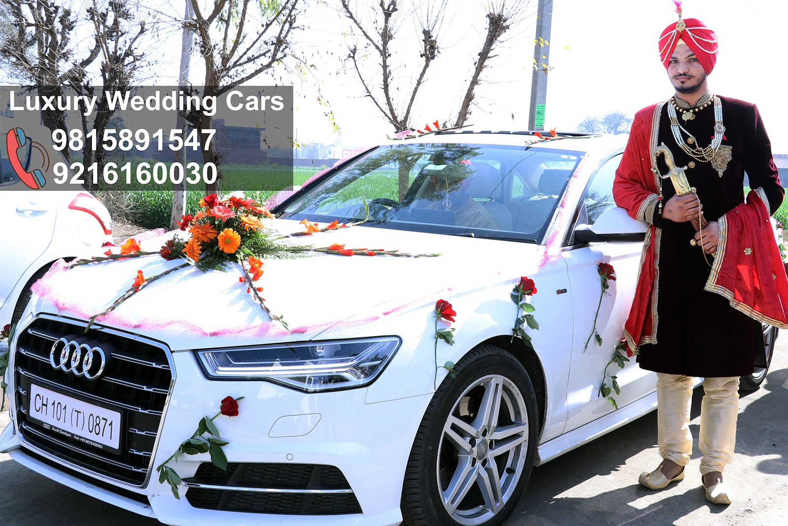 Luxury Car For Wedding in Mohali, Wedding luxury car in Mohali city