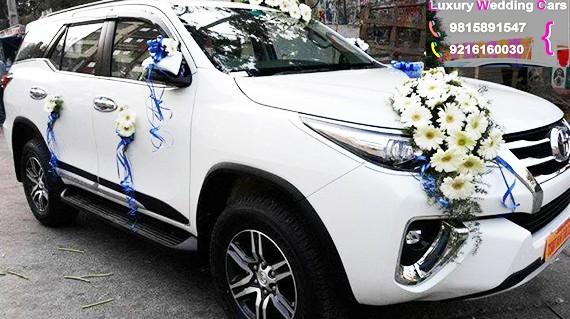 Fortuner for wedding in Chandigarh, Toyota fortuner car for wedding in Chandigarh