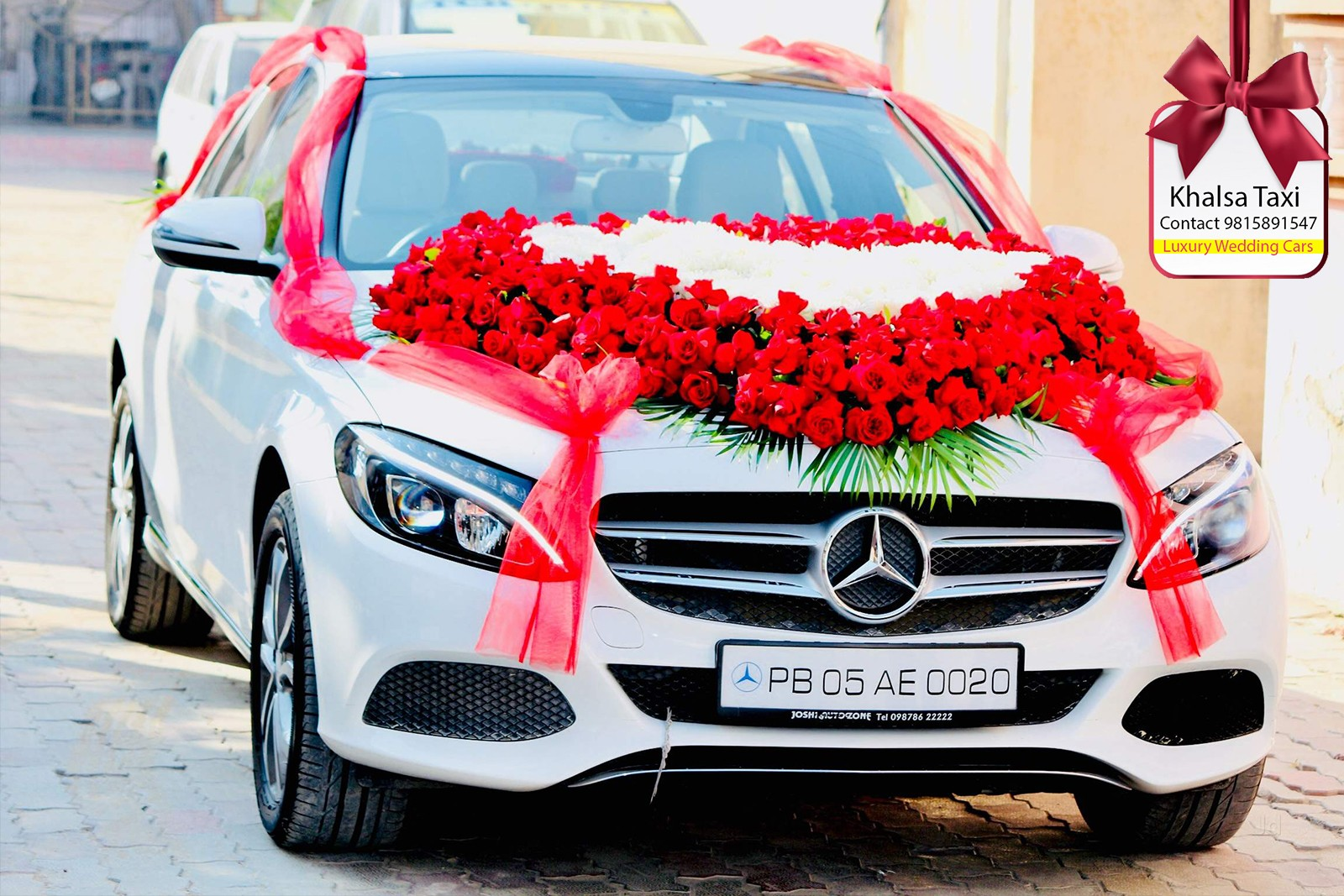 Hire mercedes car in Chandigarh for wedding and video shoot