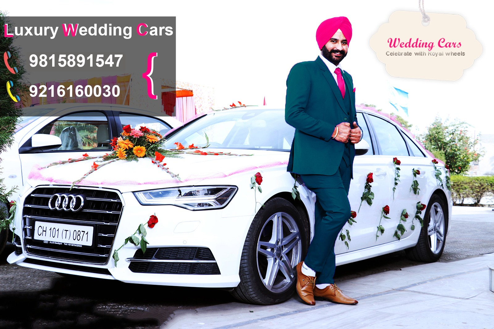 Morinda wedding cars, luxury wedding car hire in Morinda like audi, mercedes, bmw
